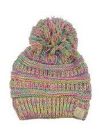Kids Pom- 4 Tone Yellow/Hot Pink/Turquoise/ Pale Pink