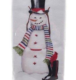 Snowman Rainboots Bagged Towel