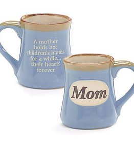 Mug Porcelain Mom on Sky Blue