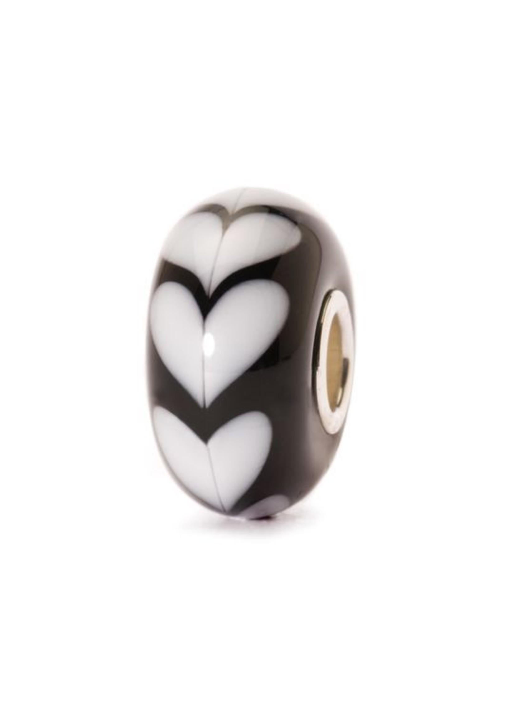 Trollbeads White Heart, Glass