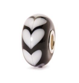 Trollbeads White Heart, Glass