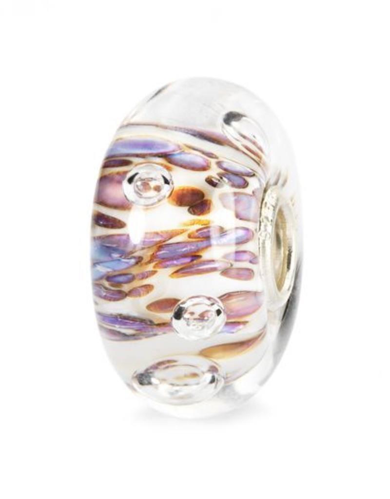 Trollbeads Purple Rippling Bubbles, Glass