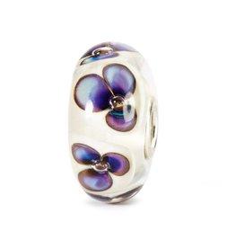 Trollbeads Ivory Violets, Glass
