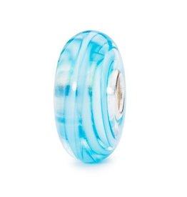 Trollbeads Turquoise Ribbon, Glass