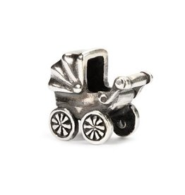 Trollbeads Baby Buggy, Silver