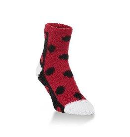 Half & Half Red, Black & White Socks