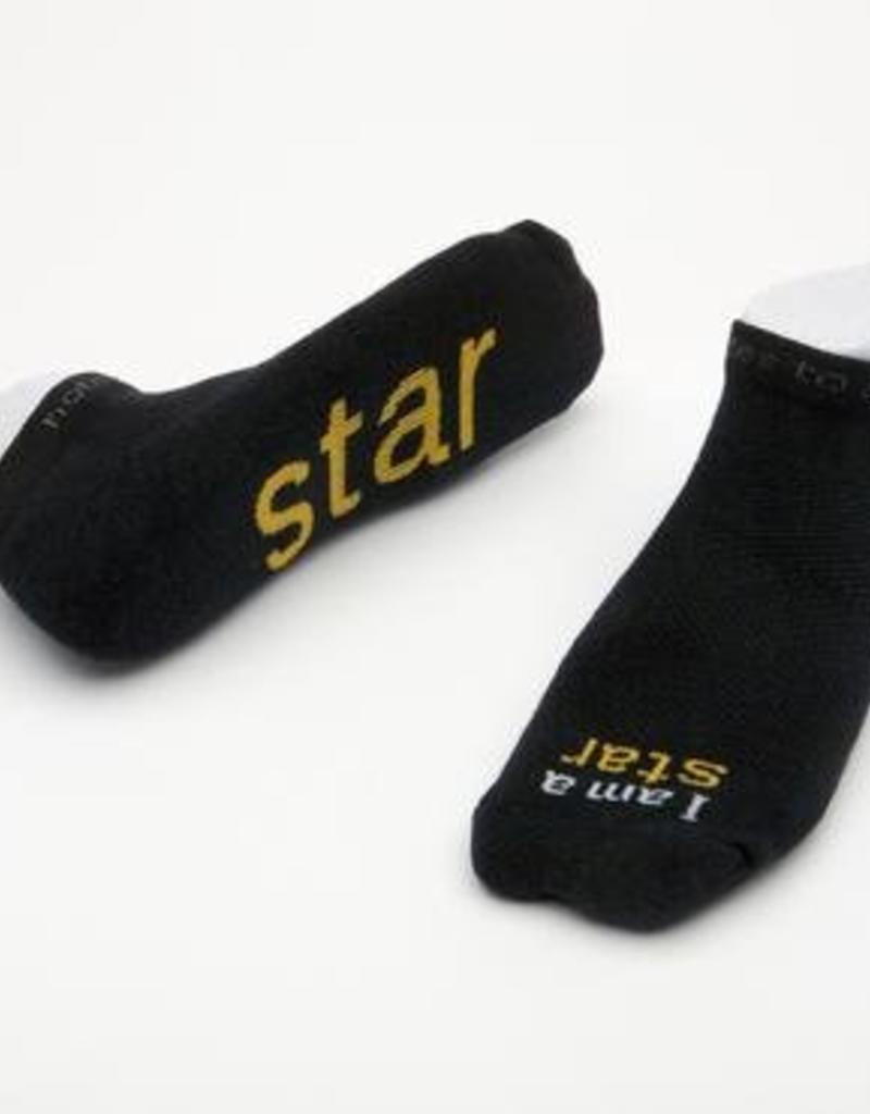 I Am A Star Socks Black Kids XS