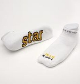 I Am A Star Socks White Kids S