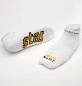 I Am A Star Socks White Kids XS