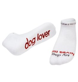 My Dog Loves Me Socks White Kids S