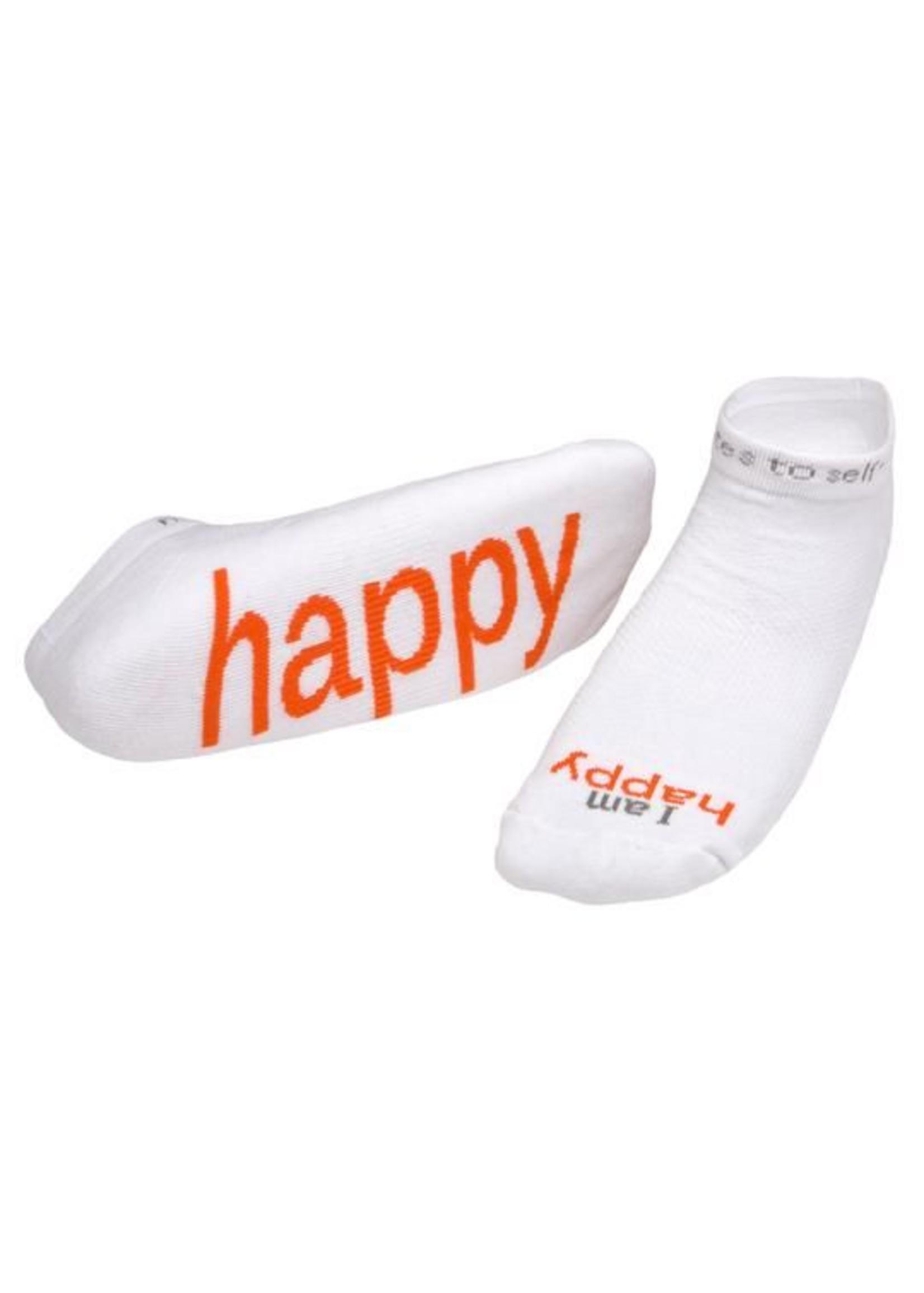 Notes to Self I Am Happy Socks White Kids S