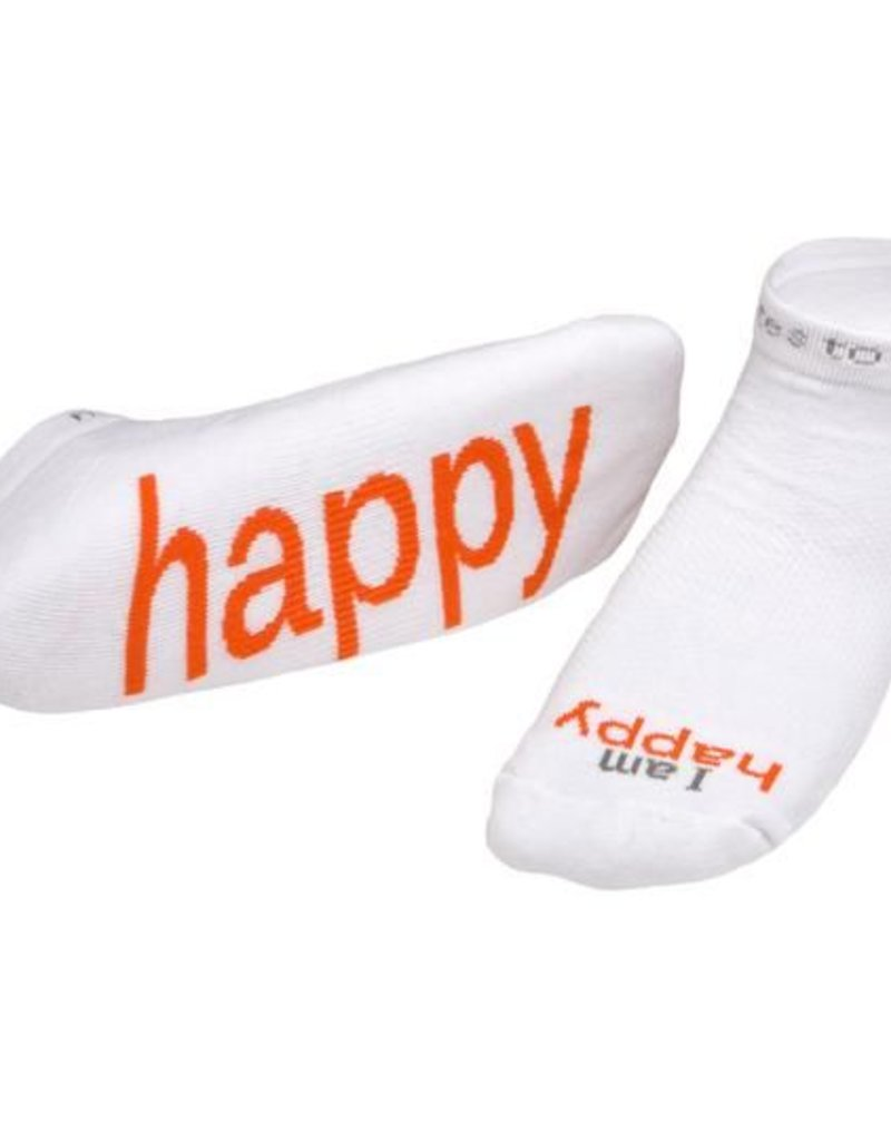 I Am Happy Socks White Kids S
