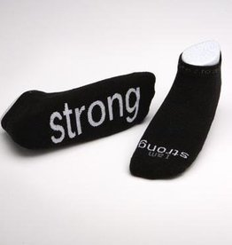 I Am Strong Black Socks Kids XS