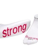 I Am Strong White Socks Kids S