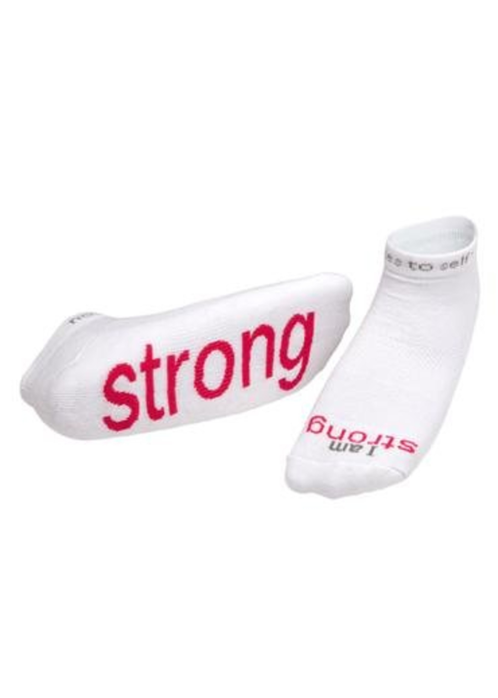 Notes to Self I Am Strong White Socks Kids S