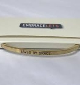 Embracelets Saved By Grace Embracelet Gold