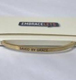 Saved By Grace Embracelet Gold