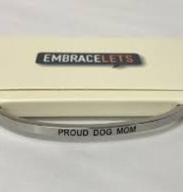 Proud Dog Mom Embracelet Silver