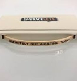 Embracelets Definitely Not Adulting Today Embracelet Rose Gold