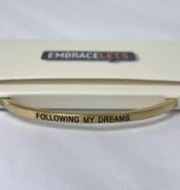Embracelets Following My Dreams Embracelet Gold