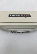 Embracelets Cute But Psycho Embracelet Silver