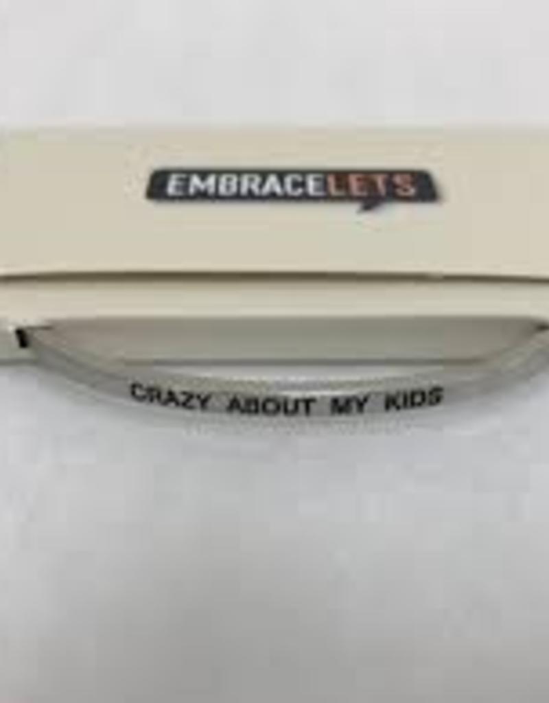 Crazy About My Kids Embracelet Silver