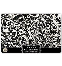 Paper Placemats Black Florentine