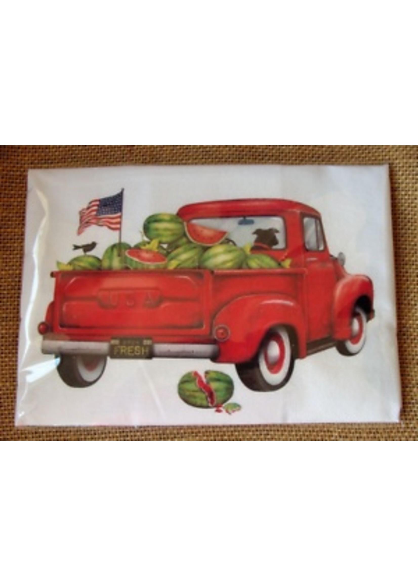 Mary Lake Thompson Watermelon Truck Bagged Towel