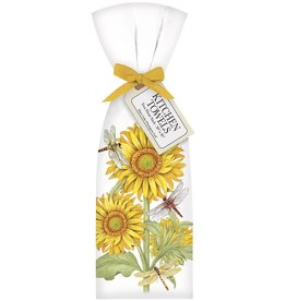 Sunflower Dragonfly Bagged Towel