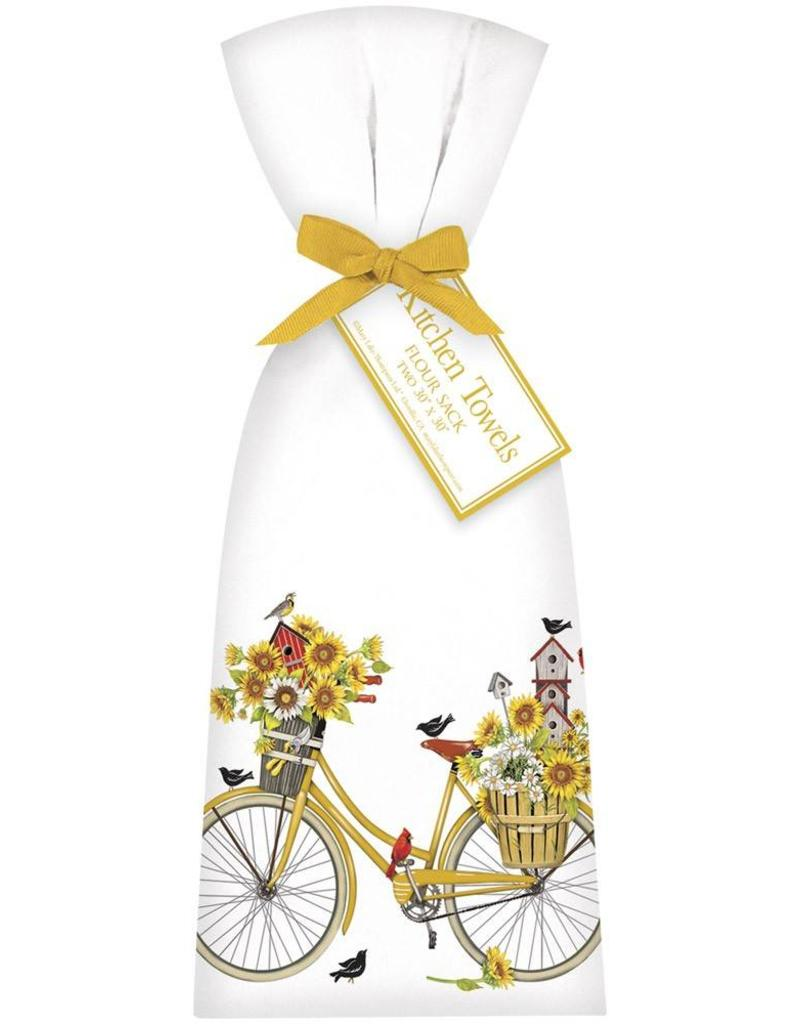 Bicycle and Sunflowers Towel