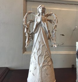 Stone Angel with Leaf Wing