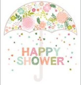Wedding Shower Card Floral Umbrella