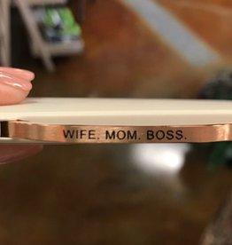 Wife. Mom. Boss. Embracelet Rose Gold