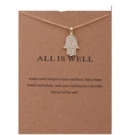 All is Well Necklace - Gold