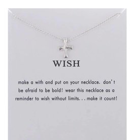 Wish Necklace - Silver Cross