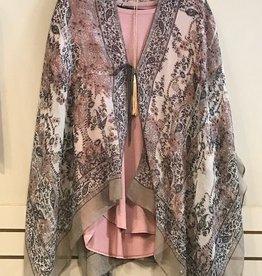 Grey Paisley Kimono