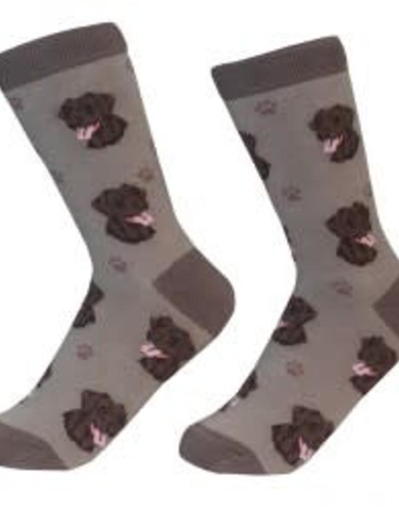 Chocolate Labrador Socks