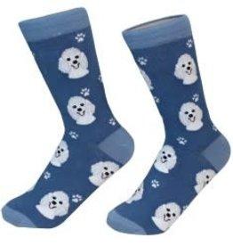 White Poodle Socks