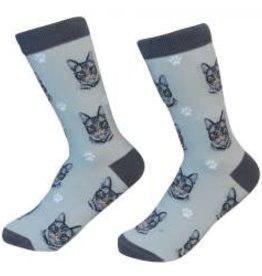 Silver Tabby Cat Socks