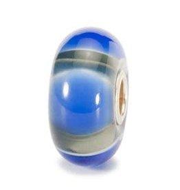 Trollbeads Blue Symmetry, Glass