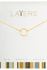 Layers Gold Open Circle Necklace
