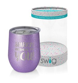 Swig 12 oz Wine Sparkly Wishes to You!