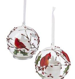 "4"" Cardinal LED Ornaments"