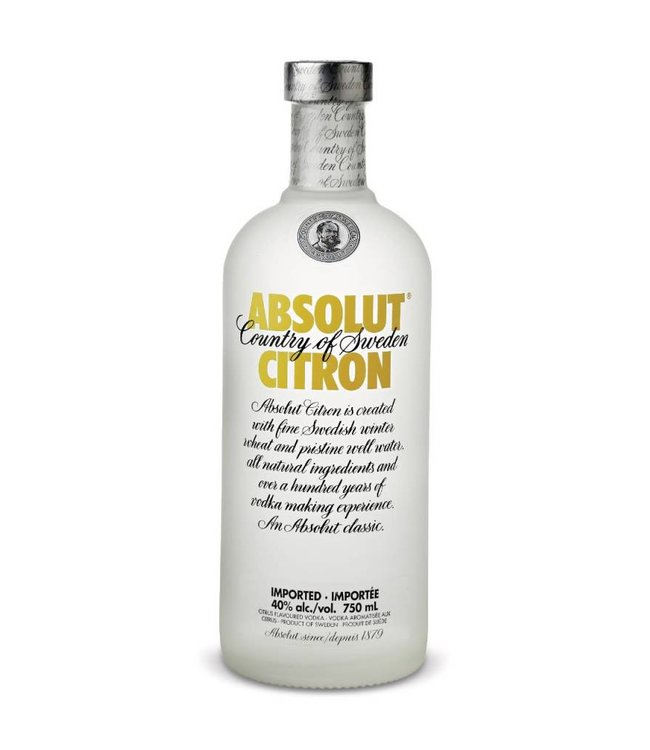 ABSOLUT VODKA ABSOLUT CITRON VODKA