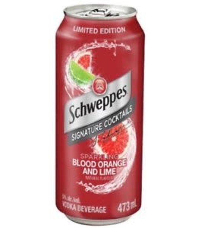 SCHWEPPES BLOOD ORANGE & LIME COCKTAIL SCHWEPPES BLOOD ORANGE & LIME COCKTAIL