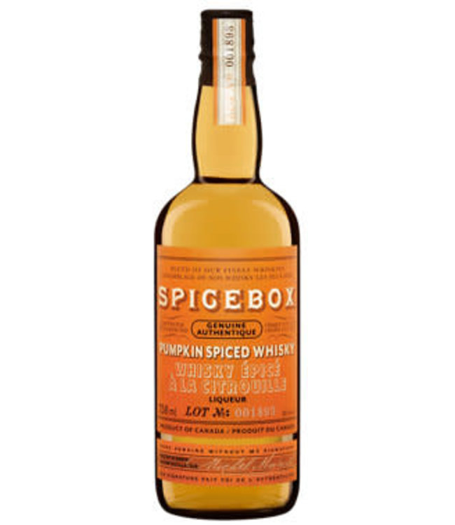 SPICEBOX PUMPKIN CANADIAN SPICED WHISKY SPICEBOX PUMPKIN CANADIAN SPICED WHISKY