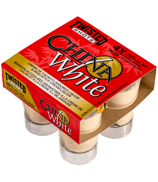 TWISTED SHOTZ CHINA WHITE TWISTED SHOTZ CHINA WHITE