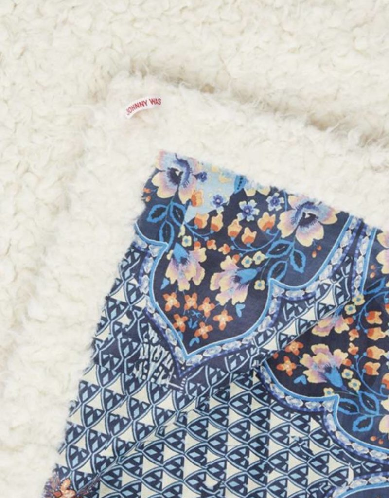 Printed suede blanket