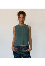 Margaret O'Leary Embroidered Tank