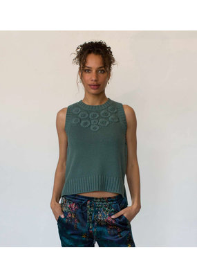 Margaret O'Leary Margaret O'Leary Embroidered Tank